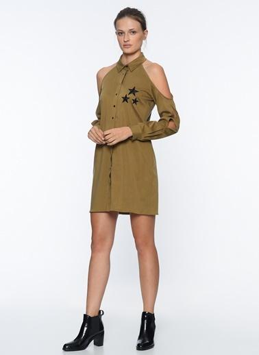 Omuzları Açık Mini Elbise-Que
